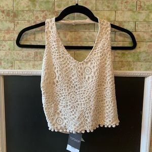 Topshop Crochet Crop Top